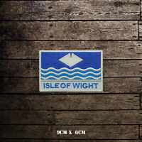 ISLE OF WIGHT Flag With Name Embroidered Iron On Sew On Patch Badge