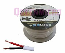 100FT CL2 16 AWG Gauge Oxygen 100% Copper Audio Speaker Wire Cable InWall 100 Ft