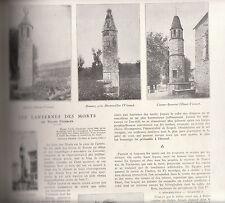 Coupure de presse Clipping Les lanternes des morts Roland Engerand 1930