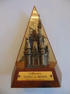 Disney World CAST Member 15 year Anniversary Award Cinderella Castle Statue