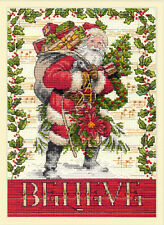 Counted Cross Stitch Kit ~ Dimensions Gold Collection Believe In Santa #70-08980