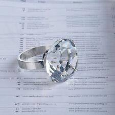 4 Clear Diamond Napkin Ring Serviette Holder Wedding Banquet Dinner Decor Favor