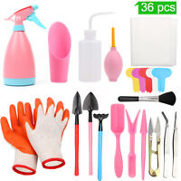 36pcs Succulent Plant Tools Mini Garden Hand Tool Set Bonsai Miniature Planting