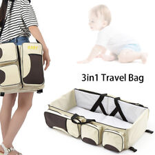 3in1 Diaper Tote Bag Travel Bassinet Nappy Changing Station Carrycot Baby Bed US