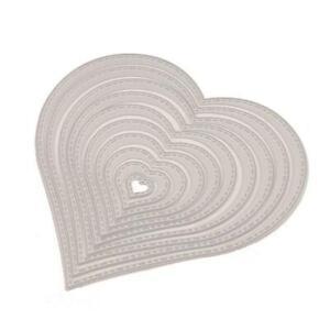 Heart Shape Metal Cutting Dies Stencil DIY Scrapbooking Album Paper Card Craft