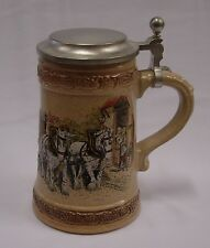 GERZ BEER STEIN WITH HORSES AND WAGON