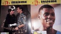 """Lot de 3 revues """" Insieme"""" l italiano a fumetti  Ed. ELI 1985/1986"""