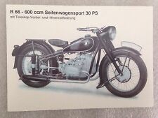 BMW R 66 -600 ccm Seitenwagensport 30 PS Postcard 1st On eBay Car Poster. Own It