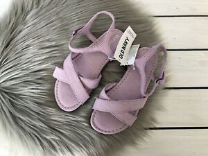 NWT Old Navy Girl's Cross Strap Sandals - Lavender Purple - 6, 7, 8, 9, 10, 11