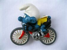 Vintage Smurf Bicycle 1981 Toy Figurine Smurfs 40501 Cyclist