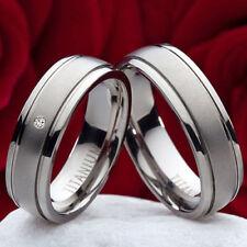 Anelli di metalli preziosi senza pietre in titanio di fidanzamento