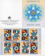Aserbaidschan 638/39 o  MH - Bogen  Europa 2006 - Michel 24,00 (2512)