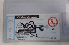 Signed St. Louis Cardinals Mark McGwire September 8, 1998 Ticket