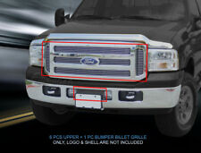 Fits 05-07 Ford F-250 F350 F450 F550 Excursion Billet Grille Grill Combo