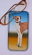 ITALIAN GREYHOUND DOG DESIGN B GLASSES CASE POUCH  SANDRA COEN ARTIST PRINT