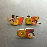 WDW - Starter Set Dated 2007 - Goofy Donald Stitch 3 Pins ONLY Disney Pin 51614