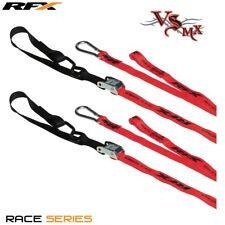 RFX Race Series 1.0 Tie Downs RED/Black with extra loop & carabiner clip