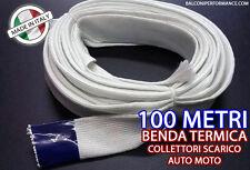 BENDA TERMICA SCARICO COLLETTORI ISOLANTE MARMITTE FIBRA 100 metri 25 mm