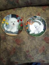 """""""Spring Fever And Perfect View Dog Michele Amatrula The Danbury Mint Plate"""