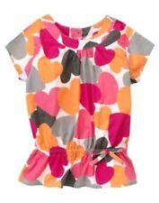 Gymboree Panda Academy Heart Print Tunic Top Cotton Poplin Size 3 NWT