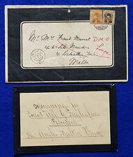 1941 Egypt - Malta 2 x Mourning letter /envelopes - President Anglo Maltese Bank