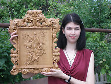 """20"""" Assumption of Our Lady Icon 3D Orthodox Wood Carved Russian"""