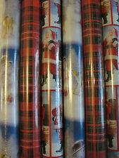 Christmas Wrapping Paper 6 Rolls Equals Total 360 Sq Ft