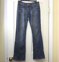 Seven7 Women's Jeans Boot Cut Mid Rise Medium Wash Stretch Denim Size 28 x 31