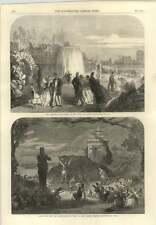 1865 exposición de Dublín Palacio cascada y Delphi teatro Espectáculo de pan