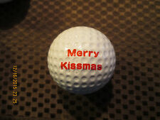 Logo Golf Ball-Merry Kissmas.Funny.Vintage Looking.Christmas