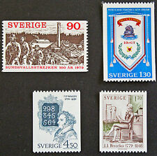 Timbre SUÈDE / Stamp SWEDEN Yvert et Tellier n°1053 à 1056 n** (cyn9)