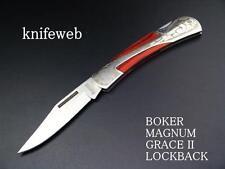 Couteau pliant Grace II Boker Magnum Manche Bois Mitres Sculptées 440 01YA110