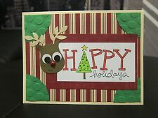 Stampin Up Big On Christmas- HAPPY HOLIDAYS Reindeer Handmade Card