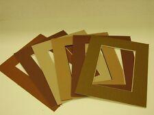 11 x 14 pre cut mat Qty ( 6 ) Brown tones (colors will vary)