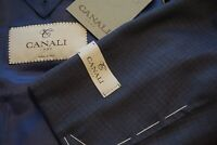 Canali 1934 Silver Label Navy Blue Plaid Wool Sport Coat Jacket Sz 42R NEW W TAG