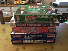 Retro Board Game Bundle TV Quiz Shows 1980's Blockbusters Fortune Telly+ Job Lot