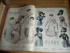 TRES GRAND ALBUM DE MODE ALBUM DE BLOUSES LE CHIC PARIS 1909 SUPERBE !