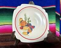 Vintage Riviera Mexicana Saucer by Homer Laughlin Hacienda Conchita Fiesta