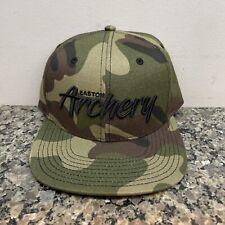 NEW EASTON ARCHERY HAT CAMOUFLAGE CAMO FLATTY CAP BASEBALL HAT BLACK SCRIPT NWT