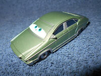 "DISNEY PIXAR CARS PATTI LA SPEEDWAY 3 1/2"" LIME GREEN DIECAST CAR - NICE"