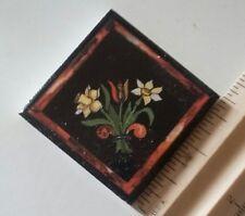 "Vintage German Villeroy & Boch Floral 1 3/4"" Square Accent Tile"