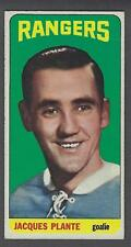 1964-65 Topps New York Rangers Hockey Card #68 Jacques Plante