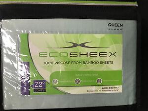 Sheex Ecosheex 100% Viscose Bamboo Queen Sheet Set Seafoam