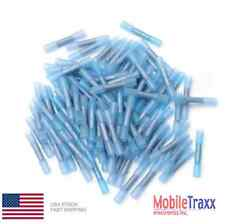 125~Pcs Blue 16-14 AWG Heat Shrink Adhesive Glue Butt Wire Connector Terminals