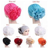 Women's Big Flower Muslim Cancer Chemo Hat Cover Hair Loss Head Scarf Turban Cap