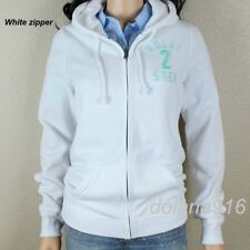 New Hollister Women's White Hoodie Size Large