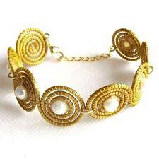Handmade Pearl Chain/Link Costume Bracelets