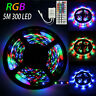 5M 300 Led RGB 3528 SMD Flexible Light Strip Lamp 44 key IR Remote Controller AU