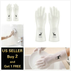 Reusable Washing Gloves Kitchen Long Waterproof Cleaning Gloves Rubber Latex