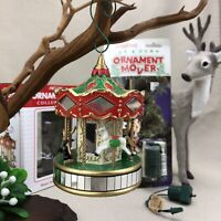 Noma Ornamotion Vintage 1989 Rotating Merry Go Round Carousel & Ornament Mover